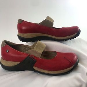 Romika Red Leather Mary Janes
